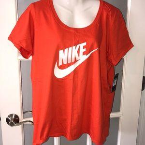 NIKE orange tee shirt size XL